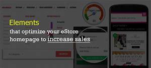 Elements that optimize your eStore homepage to increase