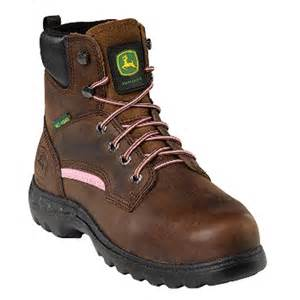 womens work boots 39 s deere 6 quot steel toe met guard work boots brown 591812 work boots at sportsman 39 s