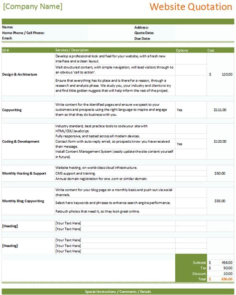 quotation templates   quotes  word excel