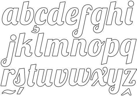 alfabeto cursivo moldes para imprimir tipos de letras moldes de letras moldes de letras