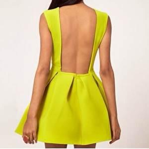 Neon green skater dress