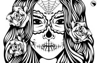 girly sugar skull coloring pages