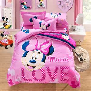 beautiful pink love minnie mouse full doona cover bedding