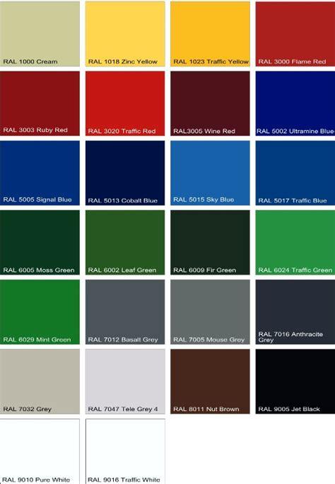 color standards standard colour chart