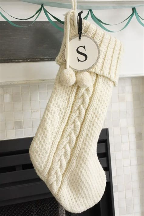 cable knit stocking   fantastic christmas knitting