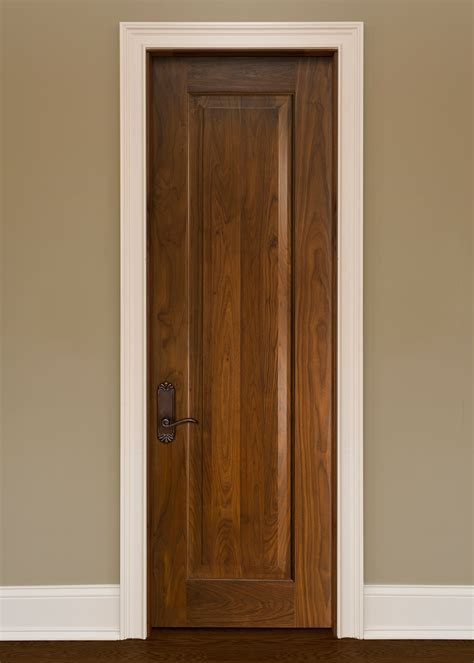 Interior Door Custom  Single  Solid Wood With Natural