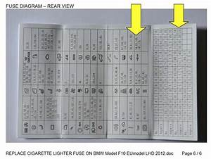 Bmw F10 Trunk Light Fuse Wiring Diagram