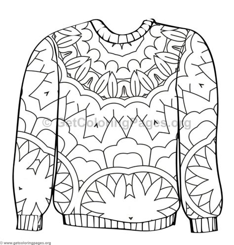 Ugly Sweater Coloring Pages #6 Getcoloringpagesorg