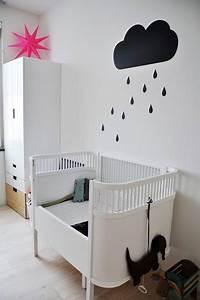 deco murale chambre bebe avec nuage en peinture With peindre au pochoir sur un mur