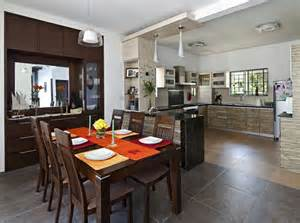 interior design for kitchen and dining dining area open kitchen with wooden furniture design by interior designer and hana