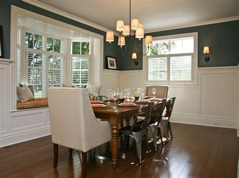 chair rail designs Dining Room Transitional with armchair