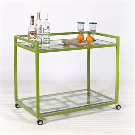 hton bar cart in green modern outdoor serving carts