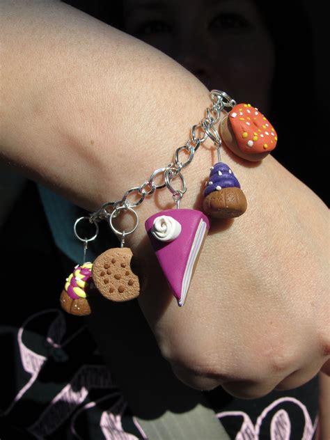 polymer clay bracelet charms  clay food bracelet