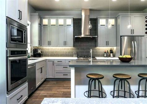 gray cabinet kitchens light grey kitchen cabinets ideas homes 1313