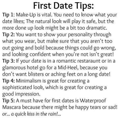 Fashion & Beauty Tips First Date