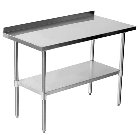 stainless steel table l commercial 48 quot x 24 quot stainless steel work bench catering