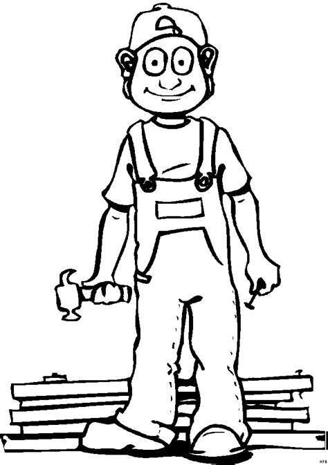 handwerker mit brettern ausmalbild malvorlage comics