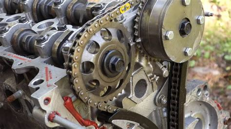 replace timing chain  engine  motor youtube