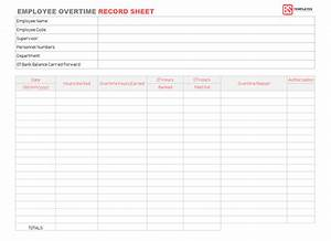 Daily Weekly Planner Employee Overtime Record Sheet Template For Excel