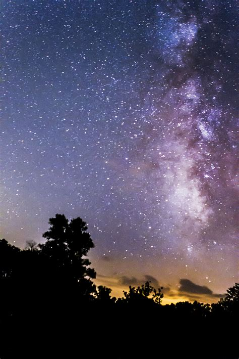 Astrophoto The Milky Way Over Panther Creek State Park