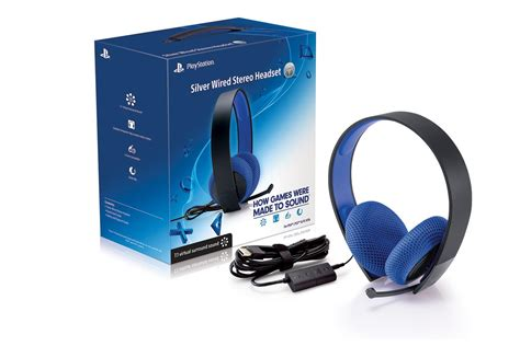Amazon.com: PlayStation Silver Wired Stereo Headset