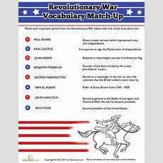 People Of The Revolutionary War  Worksheet Educationcom