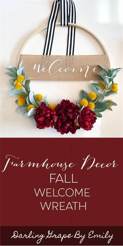 Wreath Fall Welcome Hoop Lambs Ear Door