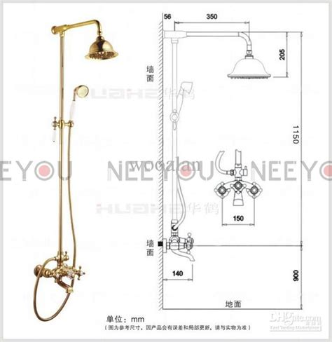 gold kitchen faucet bathroom dual handles exposed copper wall mount