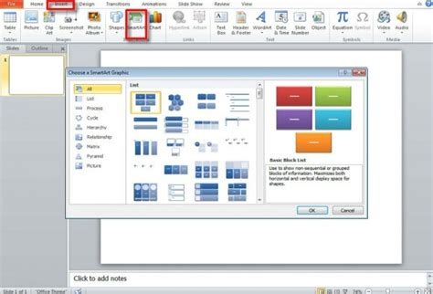 smartart powerpoint templates how to create a flowchart using smartart in powerpoint 2010