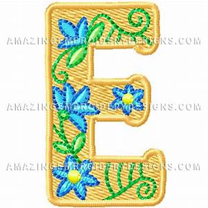 Free Embroidery Design – Letter E – Freedesigns.com
