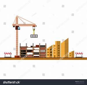 Construction Site Building House Under Construction Stock ...