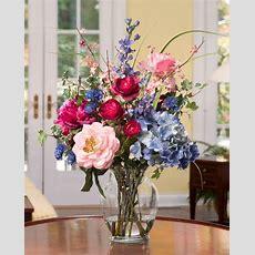 Decorate With Painter's Palette Silk Flower Arrangement At
