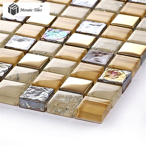 mosaic tile ideas for bathroom tst glass mosaic tile iridescent golden glass tile
