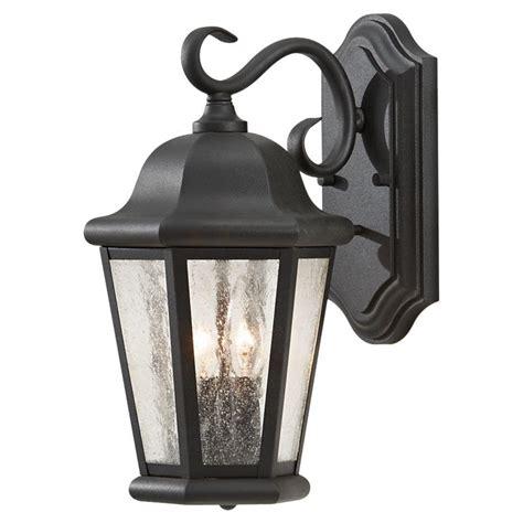 outdoor light fixture feiss martinsville 2 light black outdoor wall fixture