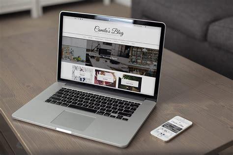 camila wordpress blog theme themes templates