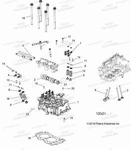 Polaris Atv 2017 Oem Parts Diagram For Engine  Cylinder