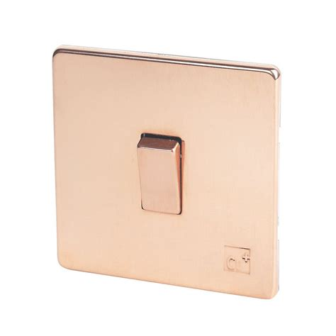 Kitchen Door Handles Screwfix by Varilight 10a 1g Rocker Switch Anti Microbial Copper 230v