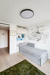 meubles vintage et portes en bois cosy pour agrementer le With tapis enfant avec canapé lit vintage
