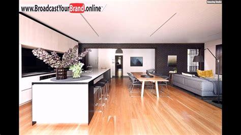 Wohnzimmer Küche Offen by Wohnzimmer K 252 Che Esszimmer In Einem Offen Holzboden