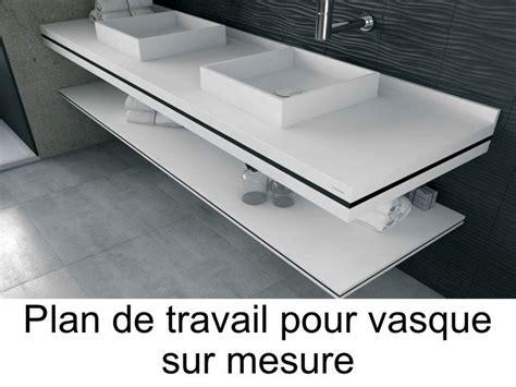 plan de toilette sur mesure en solid surface pour vasque de salle de bain 224 poser puzzle