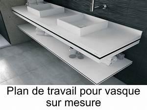 vasques plan vasque plan de travail sur mesure en solid With plan de travail pour vasque de salle de bain