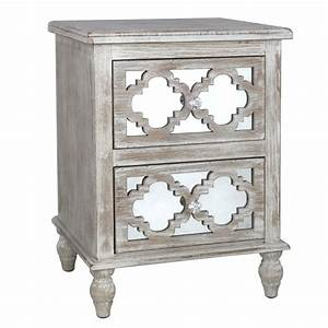 Hampton Beach Mirrored Two Drawer Cabinet - Nicholas John