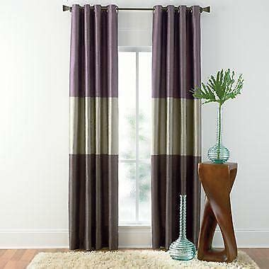 Striped Drapery by Horizontal Striped Curtains Ebay