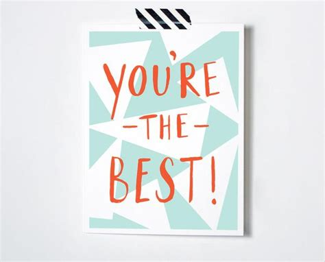 You're The Best Card  The Paper Cub Co