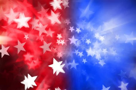 Red White Blue Stars Abstract Background Stock Image