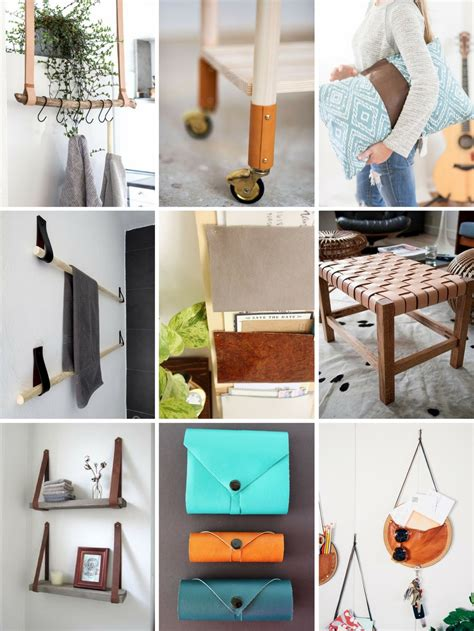 roundup  fun  super easy diy projects  leather