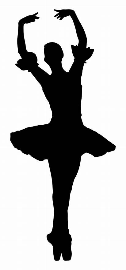 Silhouette Clipart Ballerina Arms Clip Raised Without