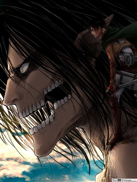 attack  titan eren levi hd wallpaper