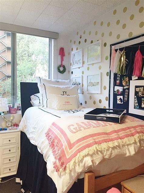 dorm room walls wallpops confetti  adhesive gold