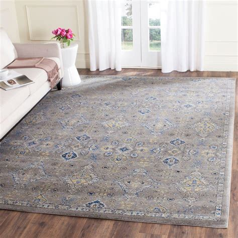 grey and area rugs safavieh evoke grey yellow 8 ft x 10 ft area rug